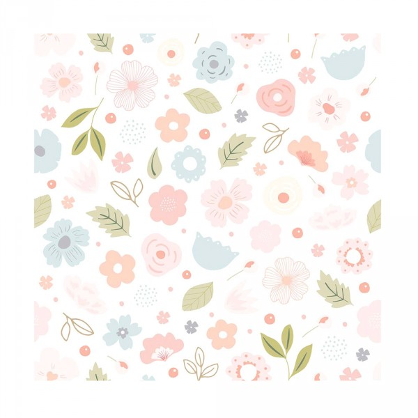 Lilipinso Vlies Tapete Blüten rosa pastell