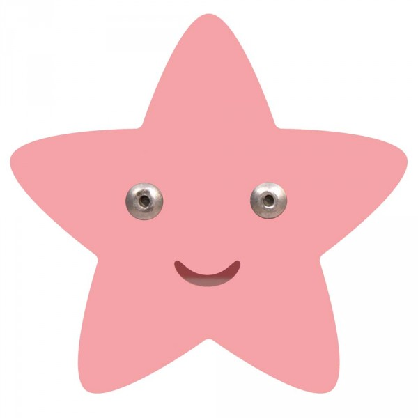 Roommate Kleiderhaken Stern rosa