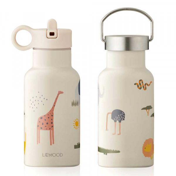 "Liewood ""Anker"" Trinkflasche Safari Mix beige"
