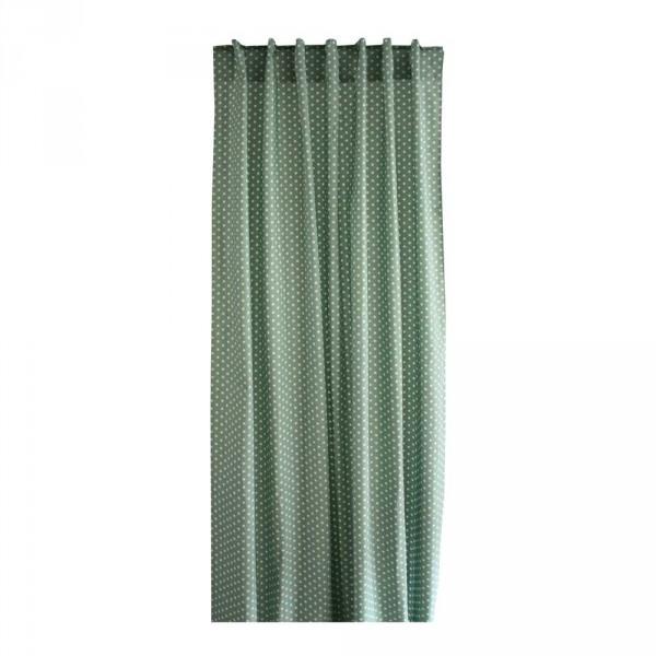 Bink Vorhang-Set Tupfen jadegrün