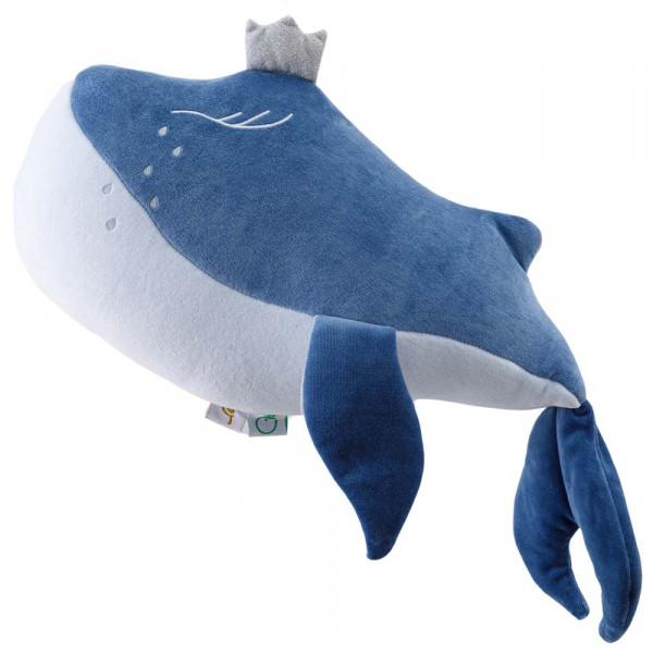 Wigiwama Spielkissen Samt Wal