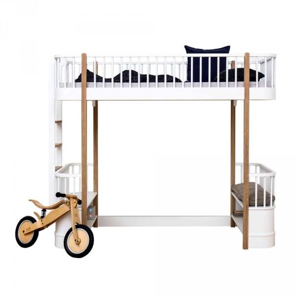 Oliver Furniture Wood Umbauset Hochbett zu Bettsofa Eiche