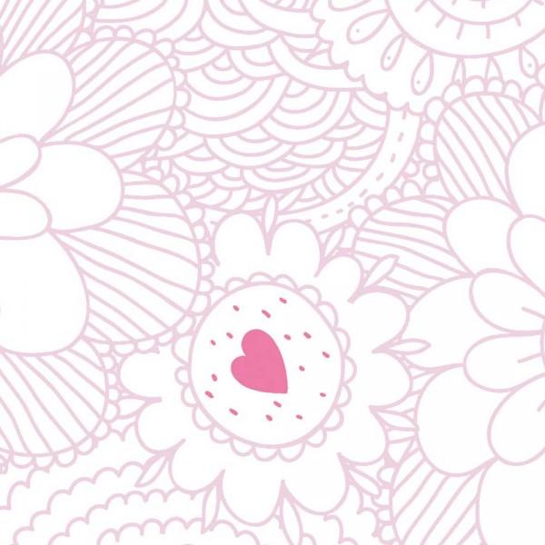 Caselio Ohlala Tapete Blumen Ornamente rosa