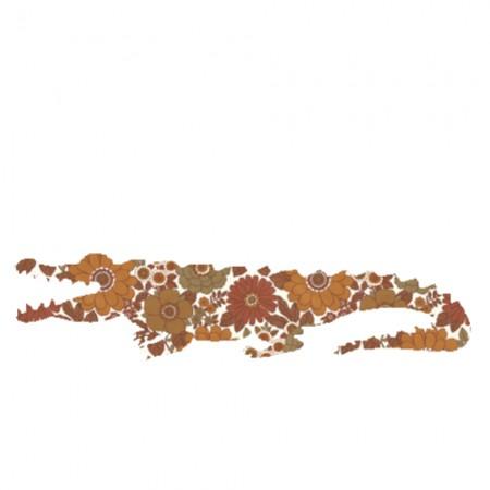 Inke Tapetentier Krokodil Ranke dunkelbraun