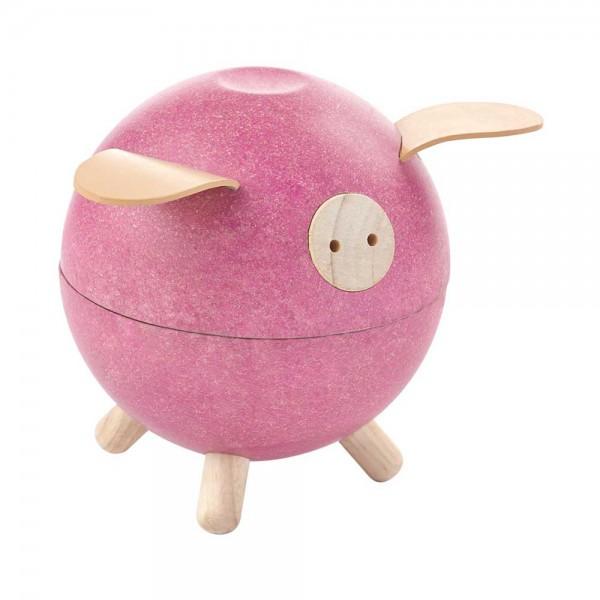Plan Toys Sparschwein Holz pink