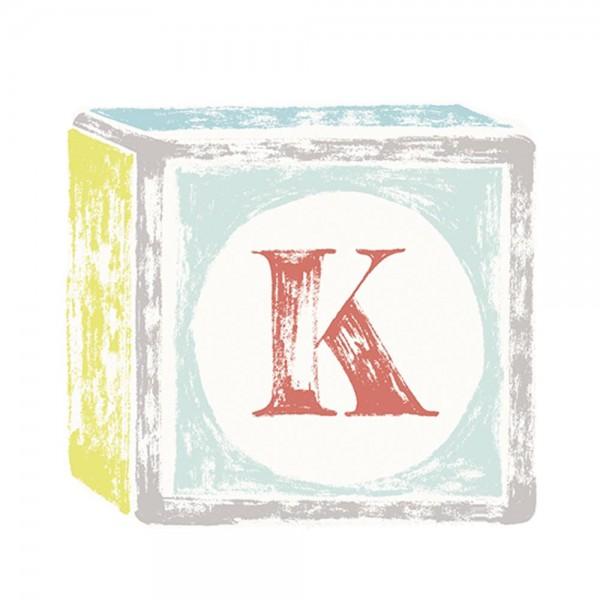 Lilipinso Sticker Buchstabe auf Spielwürfel K