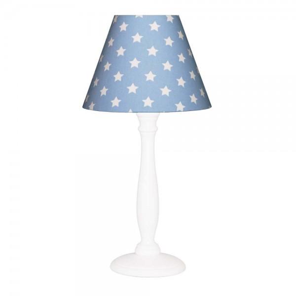 Nordika Lampenschirm blau Sterne weiß c2