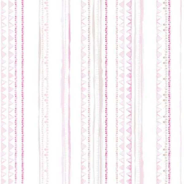 Caselio Ohlala Streifentapete Wimpel Ketten rosa pink grau