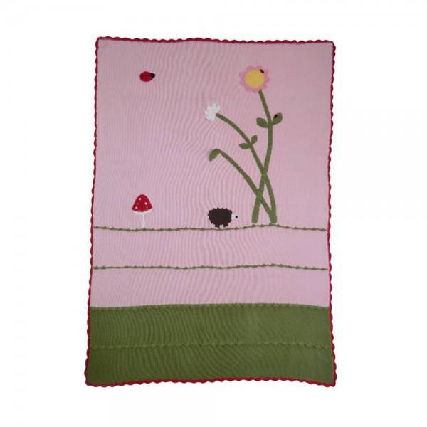 Powell Craft Kinderdecke rosa Wiese