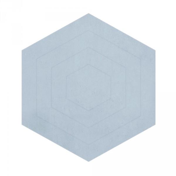 Lilipinso Teppich Hexagon hellblau