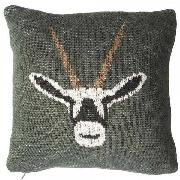 Quax Strickkissen Antilope khaki 30 x 30