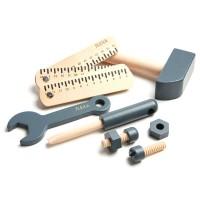 Flexa Kinder Werkzeugset Holz blau