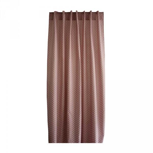 Bink Vorhang-Set Tupfen altrosa