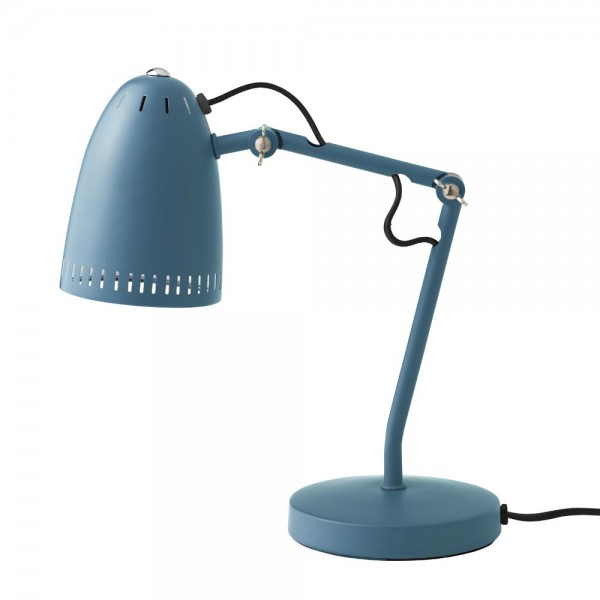 """Superliving Schreibtischlampe """"Dynamo 345"""" matt rauchblau"""