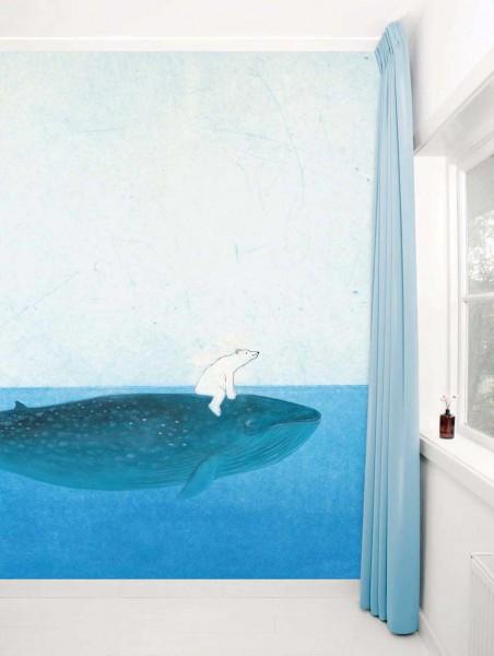 Kek Amsterdam Tapeten Wandbild Eisbär & Wal