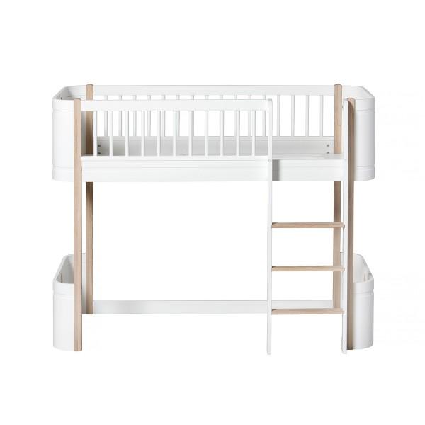 Oliver Furniture Wood Mini+ Umbauset Juniorbett zu halbhohem Hochbett Eiche