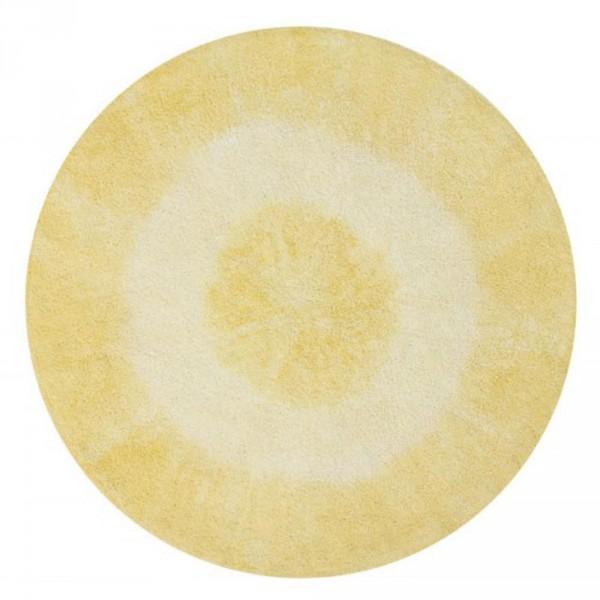 Lorena Canals Teppich rund Baumwolle Tie Dye gelb