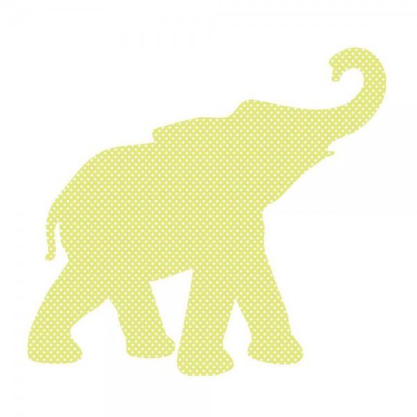 Inke Tapetentier Babyelefant grün Punkte weiss