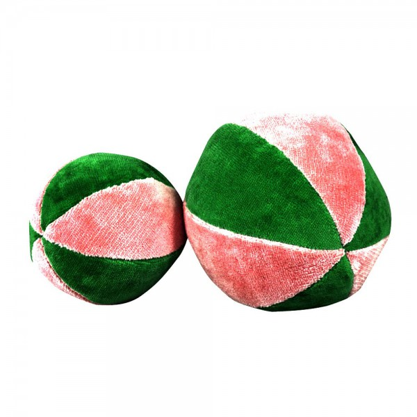 Senger Ball mit Rassel rosa grün