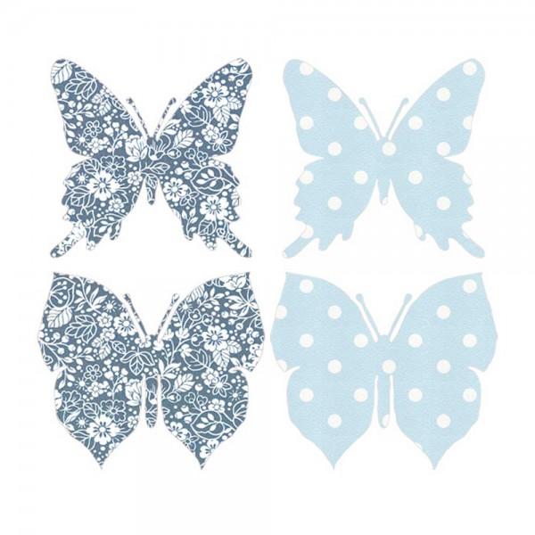 Inke Tapetenschmetterlinge blau