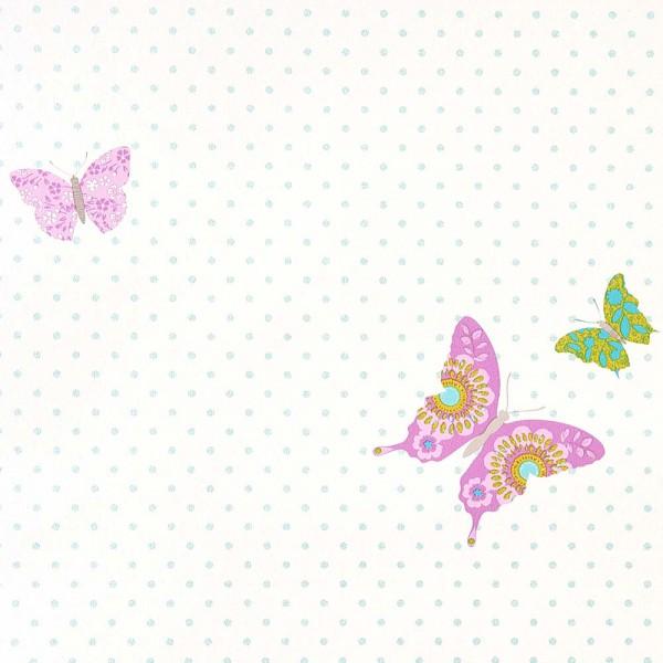 Caselio Girls only Tapete Schmetterlinge lila türkis
