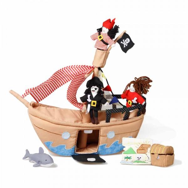 Oskar & Ellen Stoff Spielset Piratenschiff