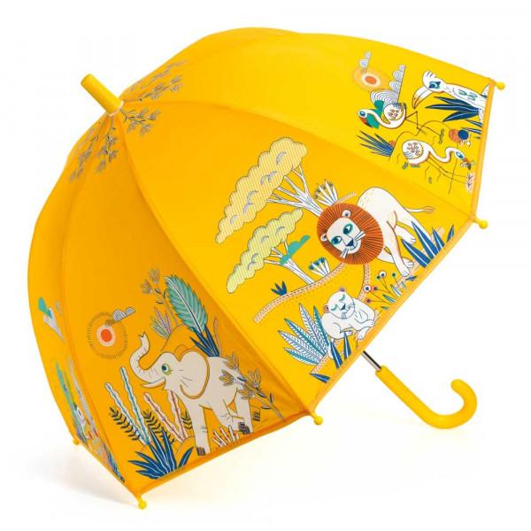 Djeco Kinder Regenschirm Savanne gelb