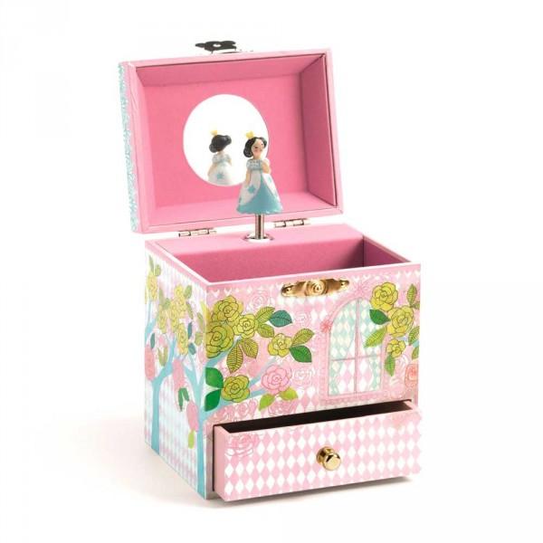 Djeco Schmuckschatulle mit Spieluhr Prinzessin mit Vögelchen