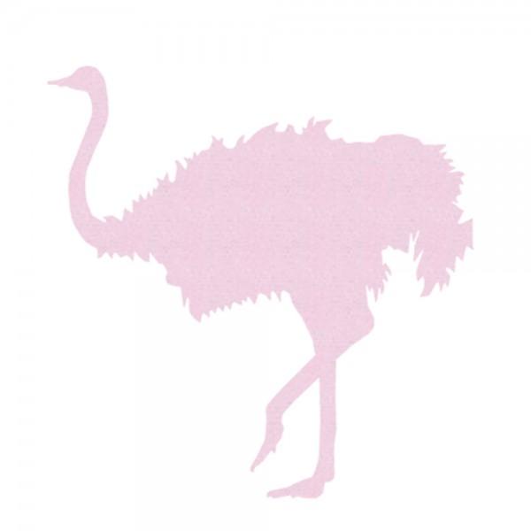 Inke Tapetentier Strauss uni rosa