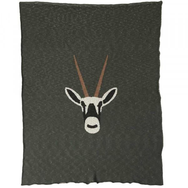 Quax Kuscheldecke Feinstrick Antilope khaki 100 x 160