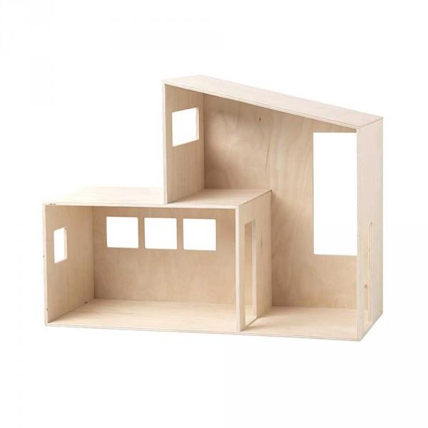 Ferm Living Funkis Puppenhaus Holz klein natur