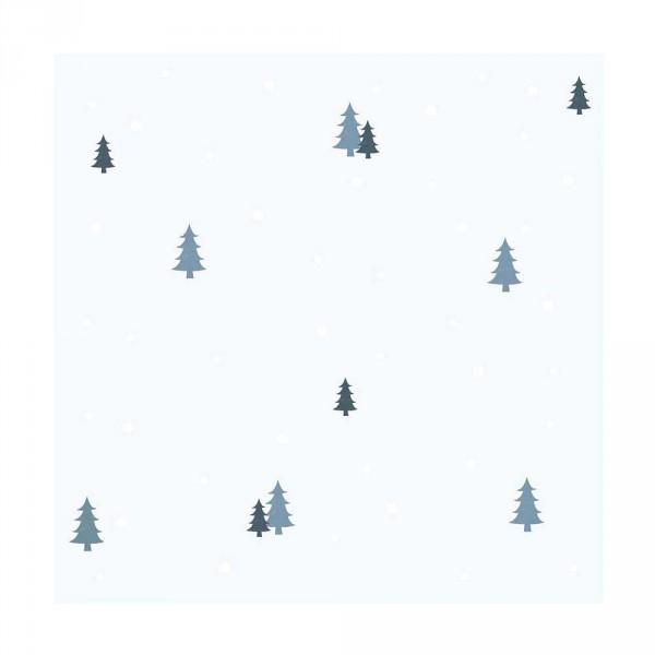 Lilipinso Vlies Tapete Tannenbäume grau blau