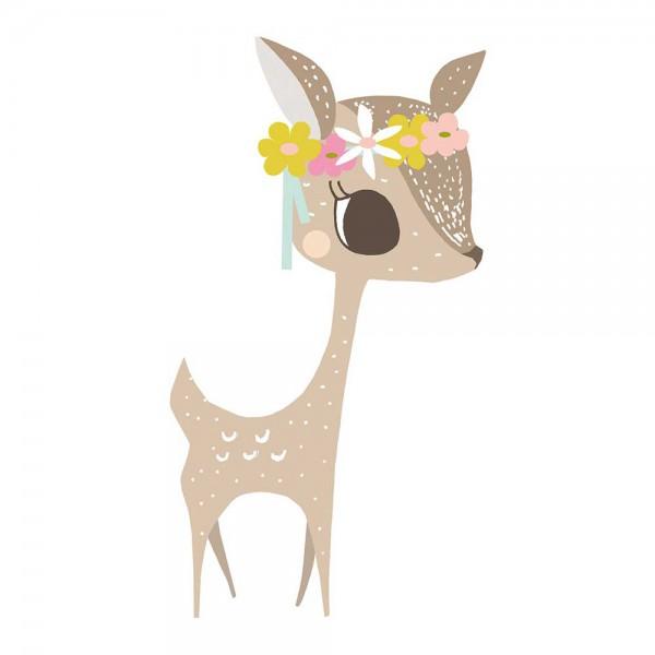 Lilipinso Wandsticker XL Reh mit Blüten