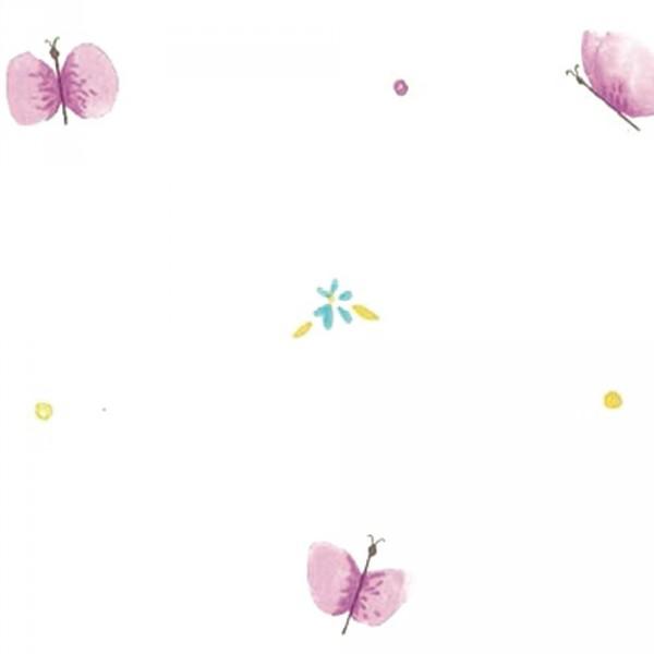 Casadeco Alice & Paul Tapete Schmetterlinge lila lime