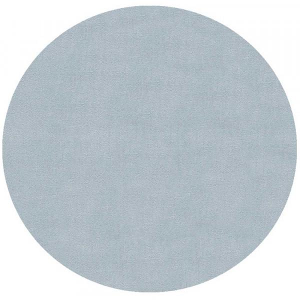 Livone Teppich rund uni blau