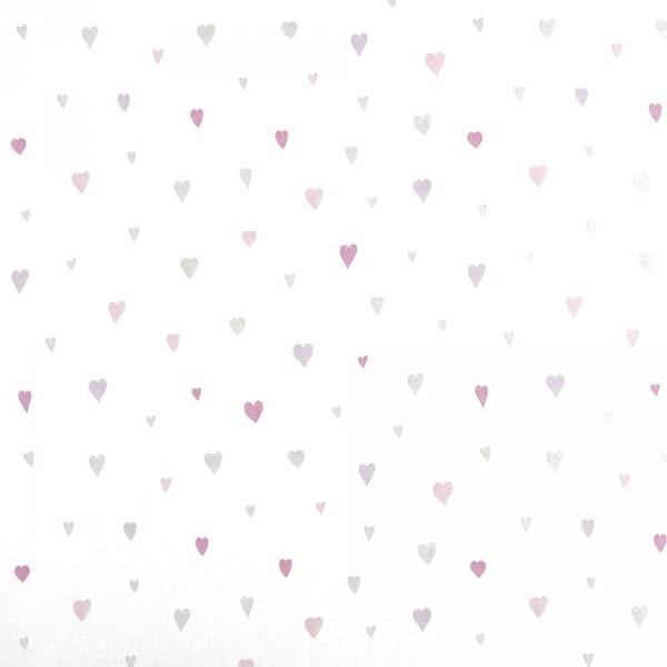 Casadeco Alice & Paul Voile Herzen grau rosa