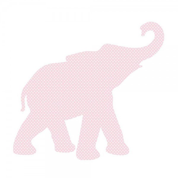 Inke Tapetentier Babyelefant rosa Punkte weiss