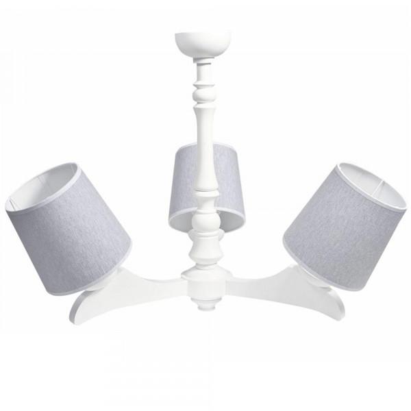 Caramella Deckenlampe 3 armig uni grau