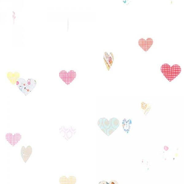 Eijffinger Tout Petit Tapeten Wandbild nostalgische Herzen