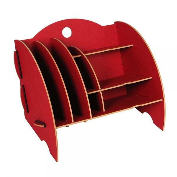 Werkhaus Schreibtisch Mini Organizer rot