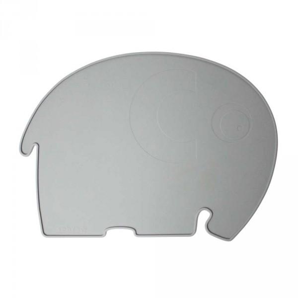 Sebra Kinder Tischset Silikon Elefant grau