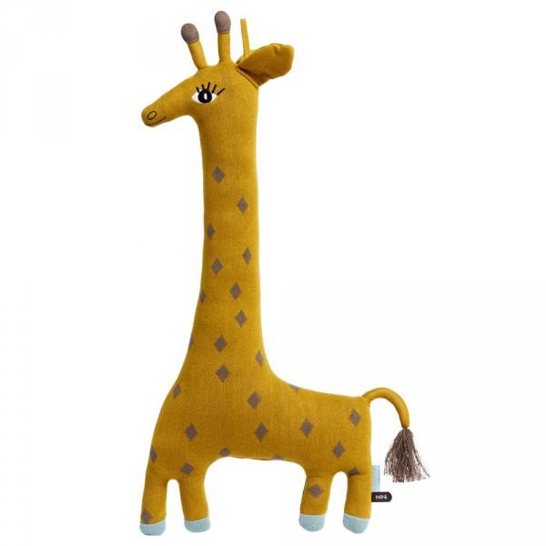 OYOY Deko Strickkissen / Kuscheltier Giraffe Noah gelb