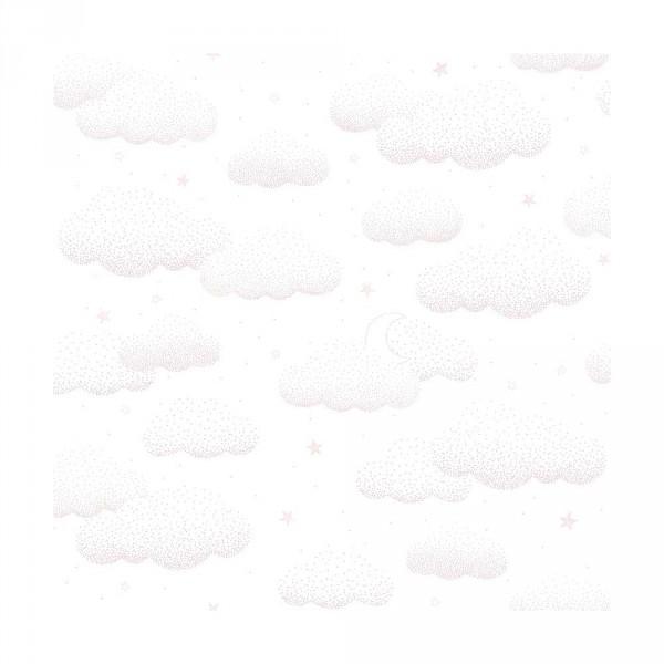 Lilipinso Vlies Tapete Wolken rosa