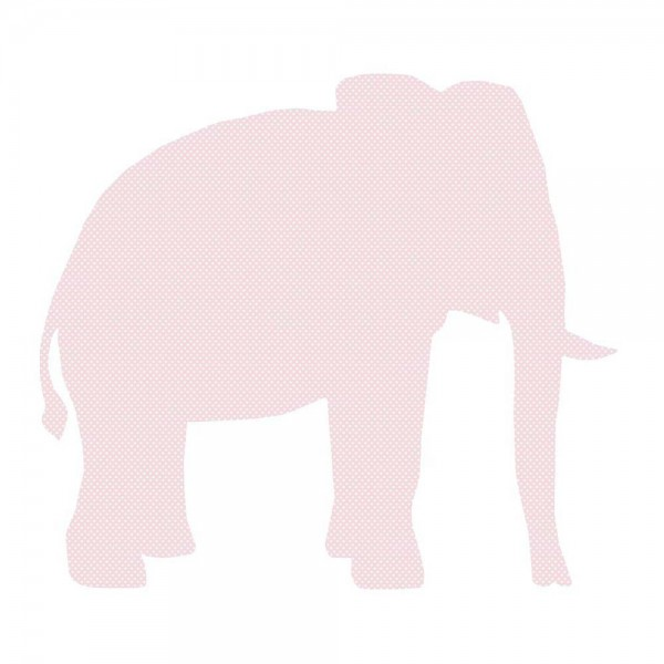 Inke Tapetentier Elefant rosa Punkte weiss