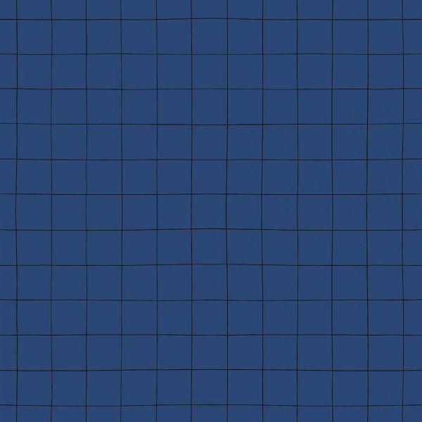 Lilipinso Vlies Tapete Rechenkaro grau auf blau