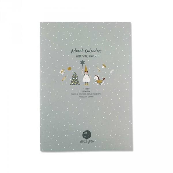 Ava & Yves Geschenkpapier Adventskalender Wichtel