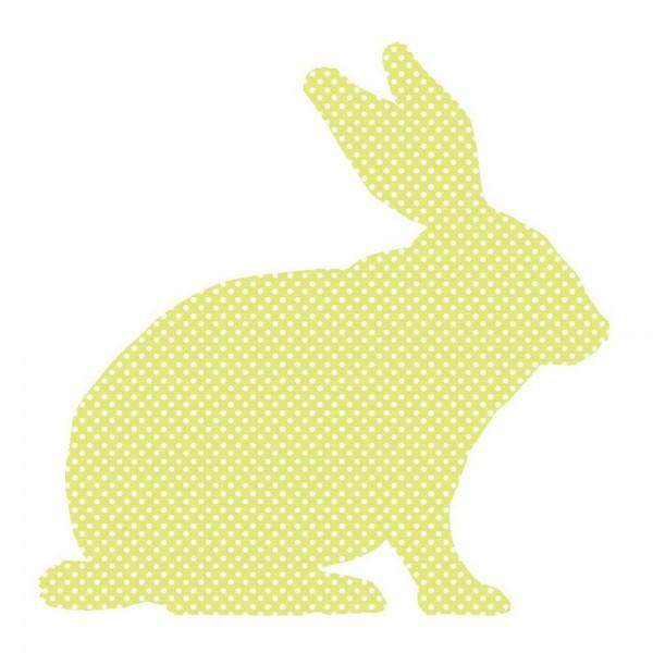 Inke Tapetentier Hase grün Punkte weiss