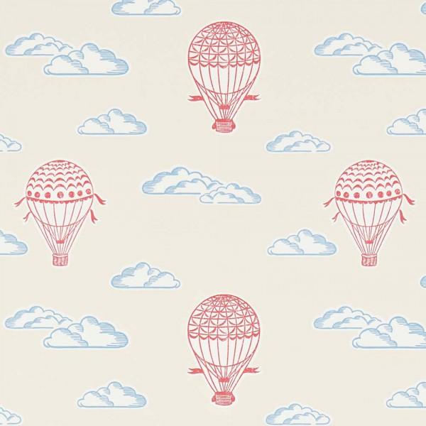 Little Sanderson Abracazoo Tapete Heissluft Ballons beige rot blau