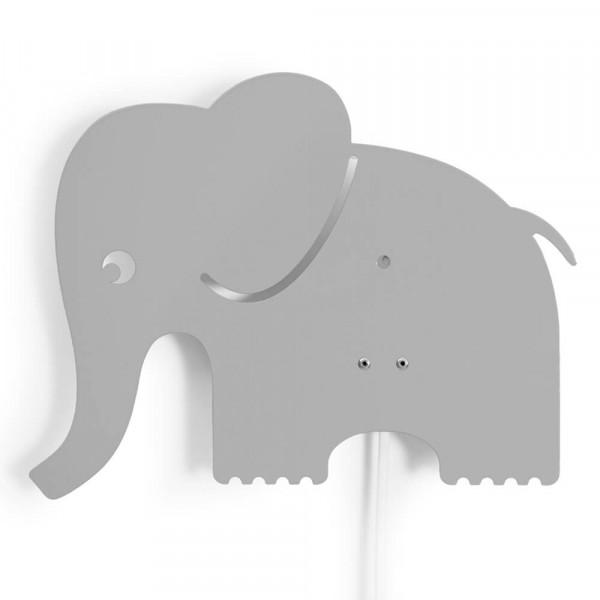 Roommate Wandlampe Metall Elefant grau