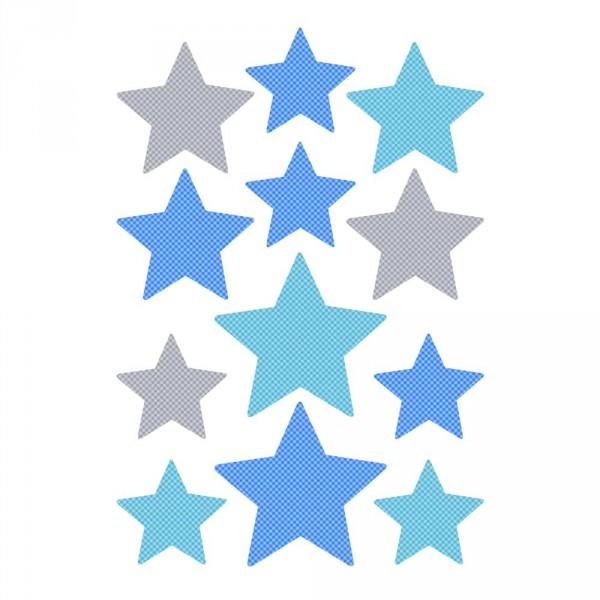 Buokids Wandsticker Sterne blau